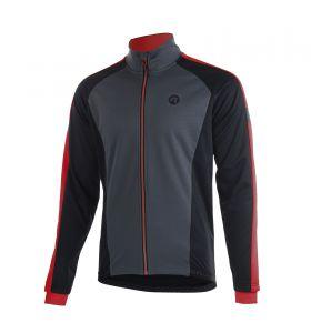 Rogelli Winterjacket Extreme Grey/Black/Red