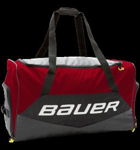 Bauer Premium Wheelbag Bag Black/Red JR