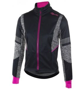 Rogelli Winterjacket Bliss Black/Grey/Pink