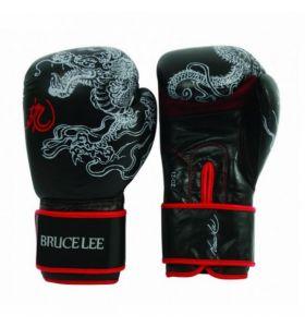 Bruce Lee bokshandschoenen Dragon zwart/rood 14 OZ