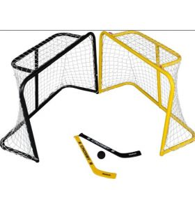 Deluxe Mini Steel Goal Hockey Set Crosby