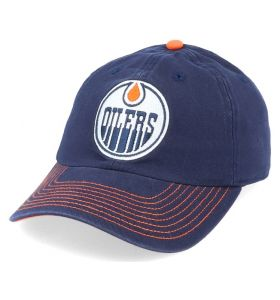 NHL Logo Fan Adjustable cap Edmonton Oilers Navy