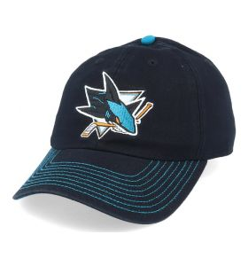 NHL Logo Fan Adjustable cap San Jose Sharks Black