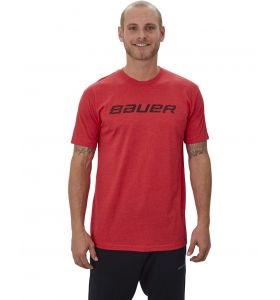 Bauer Graphic SS Crew Tee Heather Red SR