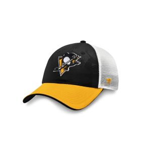 NHL Logo Trucker Adjustable cap Pittsburgh Penguins Black