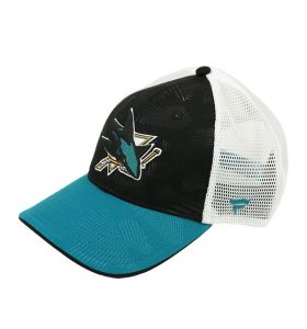NHL Logo Trucker Adjustable cap San Jose Sharks Black