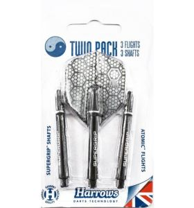 Harrows Twin Pack Black/Silver Retina