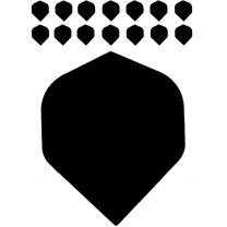 Bull's polyflight solid black 5 pack
