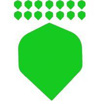 Bull's polyflight solid green 5-pack