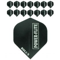 Bull's Powerflight solid black white 5-pack