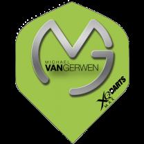 XQ-Max MVG flight - Logo Silver on Green